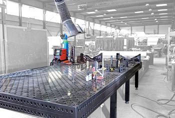 SIEGMUND Schweißtisch - 4 m x 2 m Tisch aus gehärtetem Werkzeugstahl
