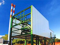 Recyclinganlage inkl. Statik, Pläne, Stahlbau, Laufstegen, Gebäudehülle, Förderanlage.