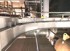 Gekrümmter Kranbahnträger einer Einschienenkatze für ein Kraftwerk in Bayern.