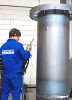 Rauchgasrohr aus CrNiMoTi-Spezialstahl mit erhöhter Beständigkeit gegen Korrosion.