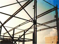 Industriehalle inkl. Baustatik, Zeichnungen, Stahltragwerk, Dach, Wände, Fenster, Türen.